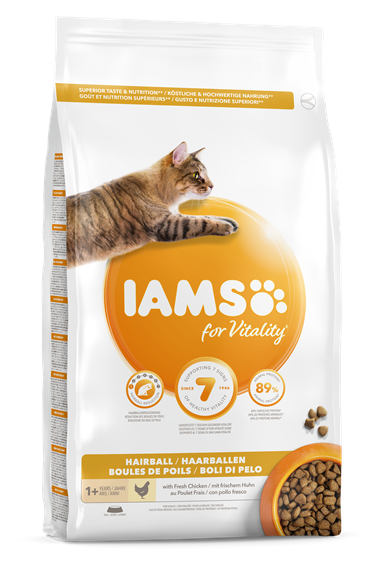 IAMS for Vitality Hairball Reduction kattenvoer